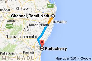 Chennai- Pondy map