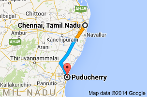 Chennai- Pondy map