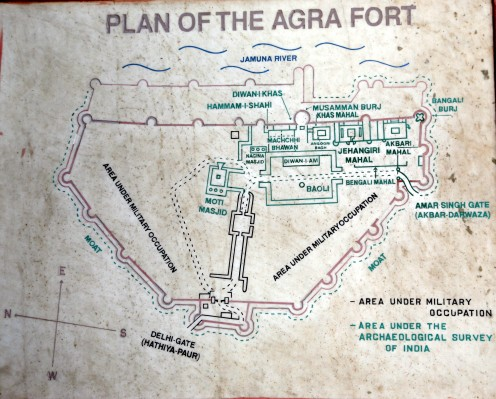Map_ Agra Fort