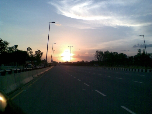Sunset on Jaipur Highway