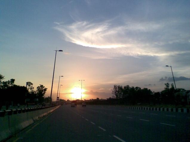 Delhi Jaipur Highway_Sunset