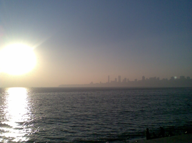 Mumbai seashore_ Sunset