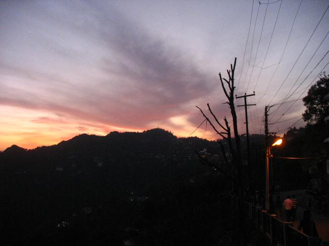 Mussoorie_Sunset