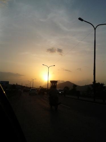 Pune Hyderabad highway_Sunrise