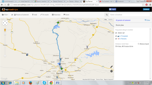 Ranchi- Patratu map