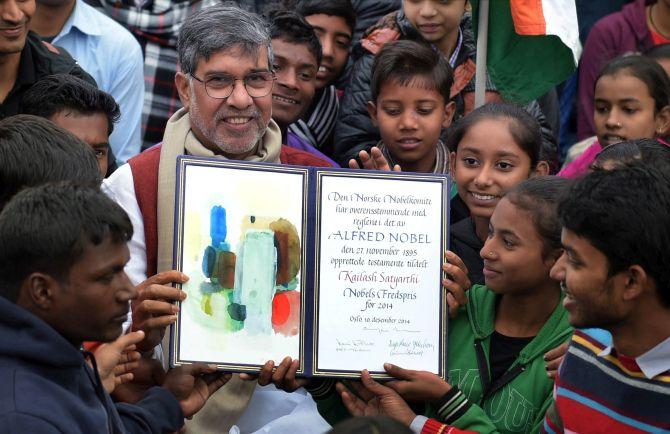 Kailash Satyarthi at Rajghat